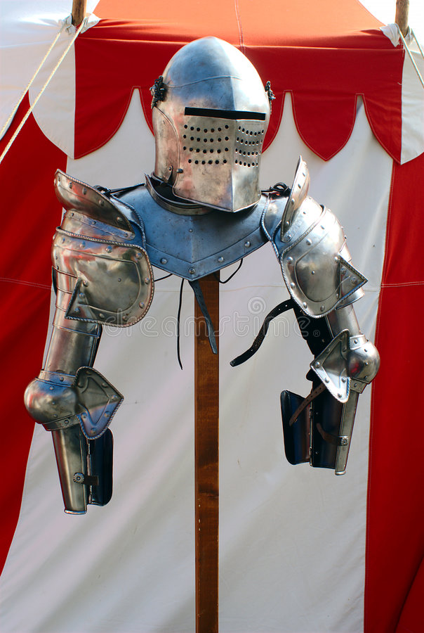 Knight's Armour Upper Part stock photos