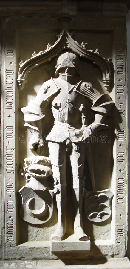 Download Knight's gravestone stock image. Image of chisel, antique - 13499