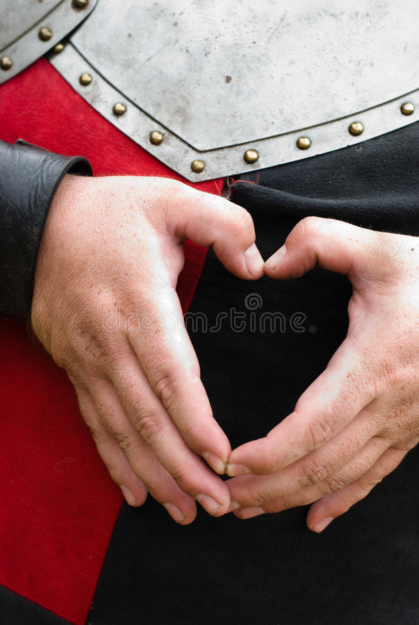 Knight's heart royalty free stock image