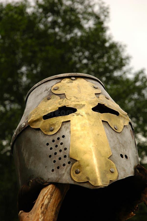 Knight's helmet stock photo