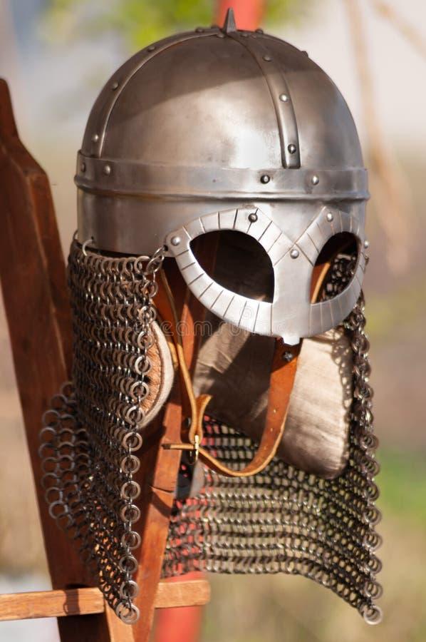 Knight's hjälmet royaltyfri foto