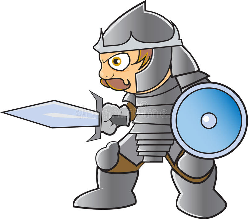 Knight In Shining Armor Royalty Free Stock Photo