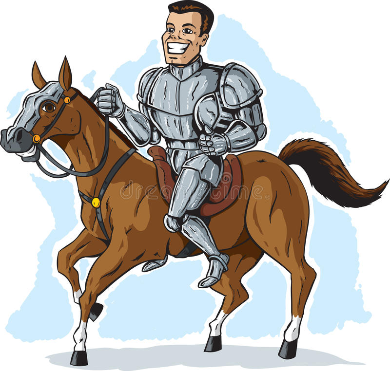 Knight is shining armor vector illustration