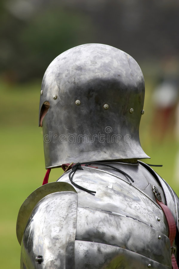 Knight in shining armour royalty free stock photo