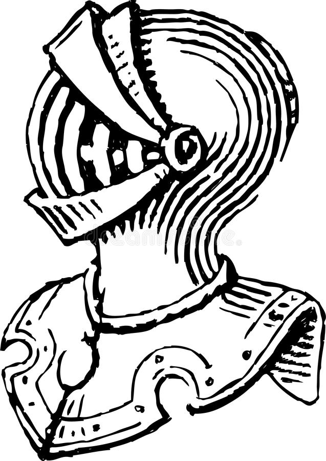 Knightly панцырь иллюстрация штока