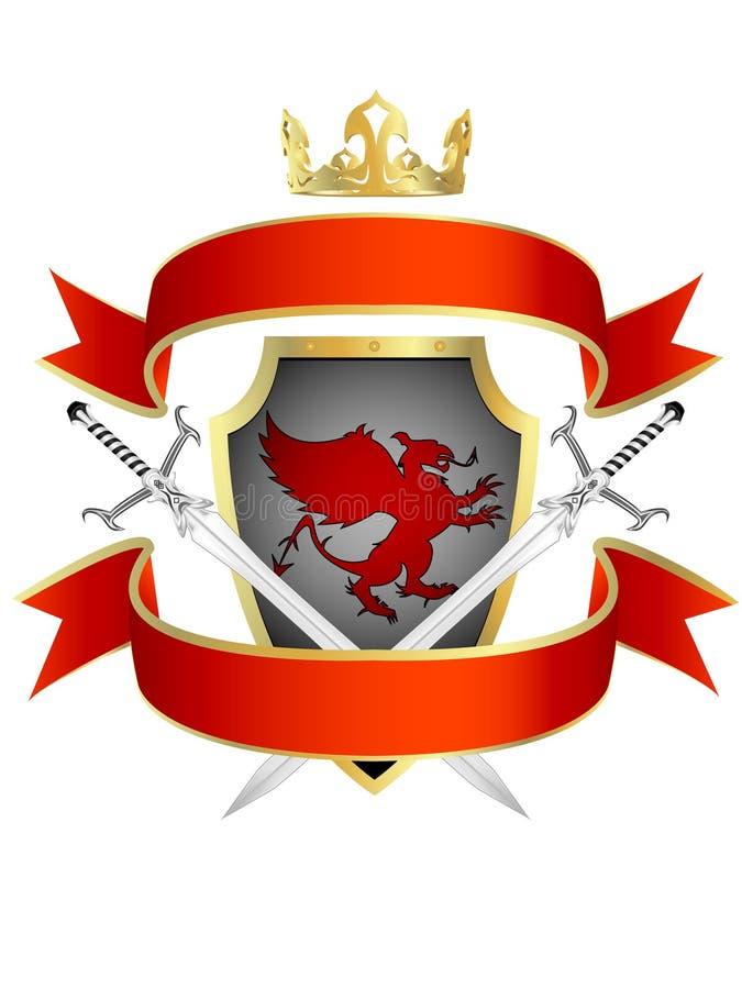knightly kunglig person för pansar stock illustrationer