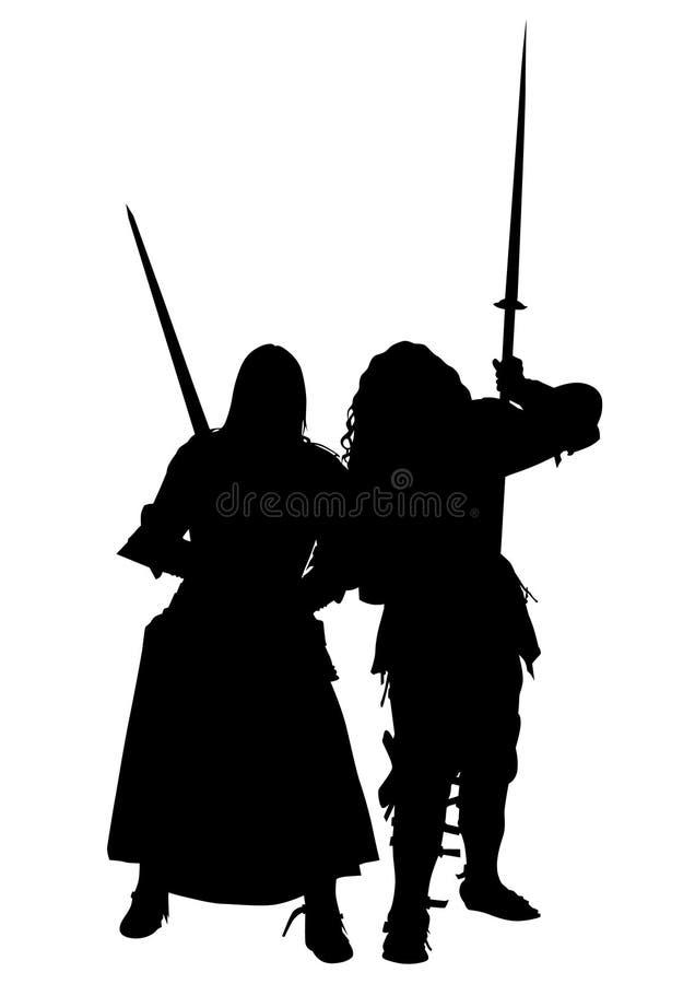 Knightly одежды одно иллюстрация вектора