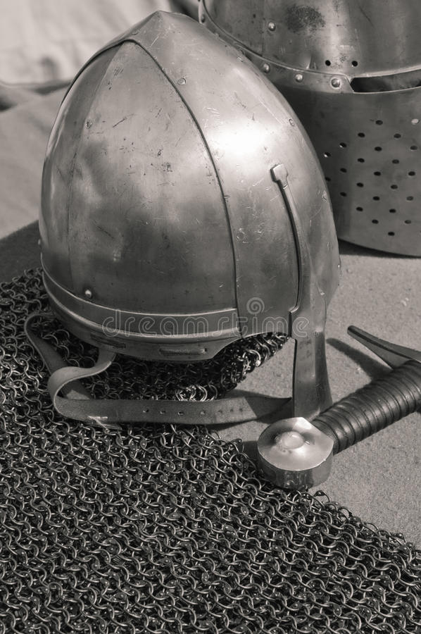 Download Knightly weapon and armour stock photo. Image of iron - 25858558