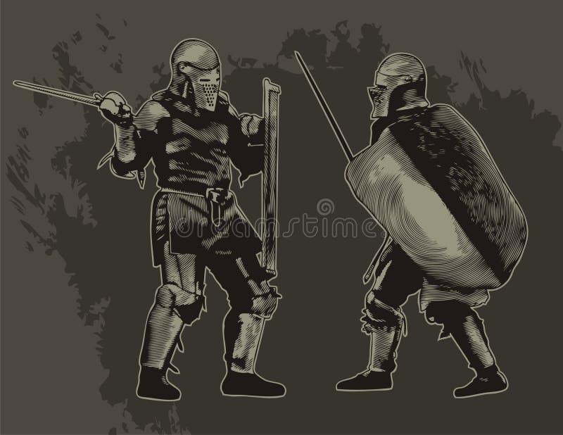 Download Knights stock vector. Illustration of helmet, legend - 14449231