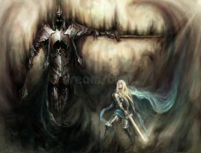 Download Knights stock illustration. Illustration of demon, school - 26307976