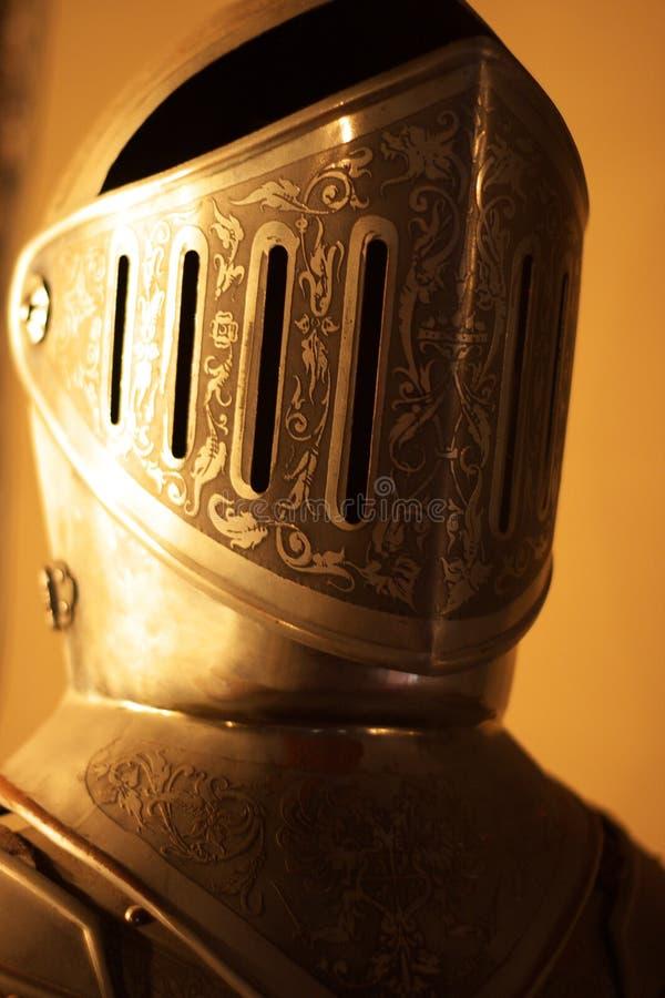 Knights armour helmet stock photos