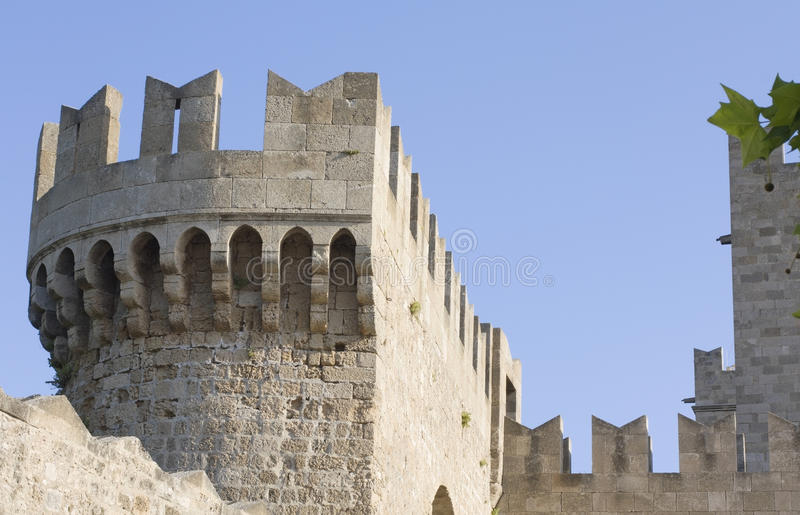 Knights Castle At Rhodes Greece Stock Photo