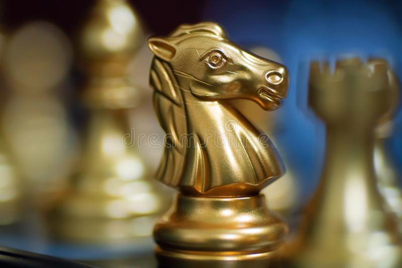 Knights chess alone stock images