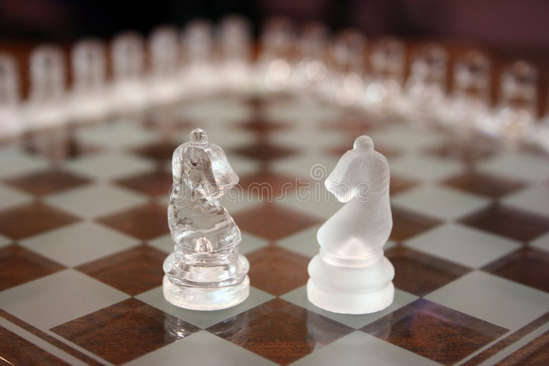 Download Knights on chessboard stock image. Image of pieces, challenge - 231811