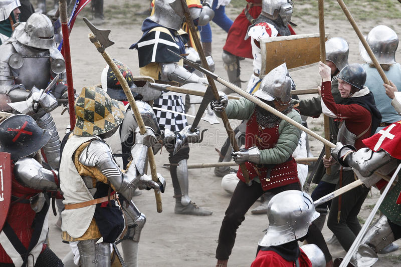 Knights fighting royalty free stock photography