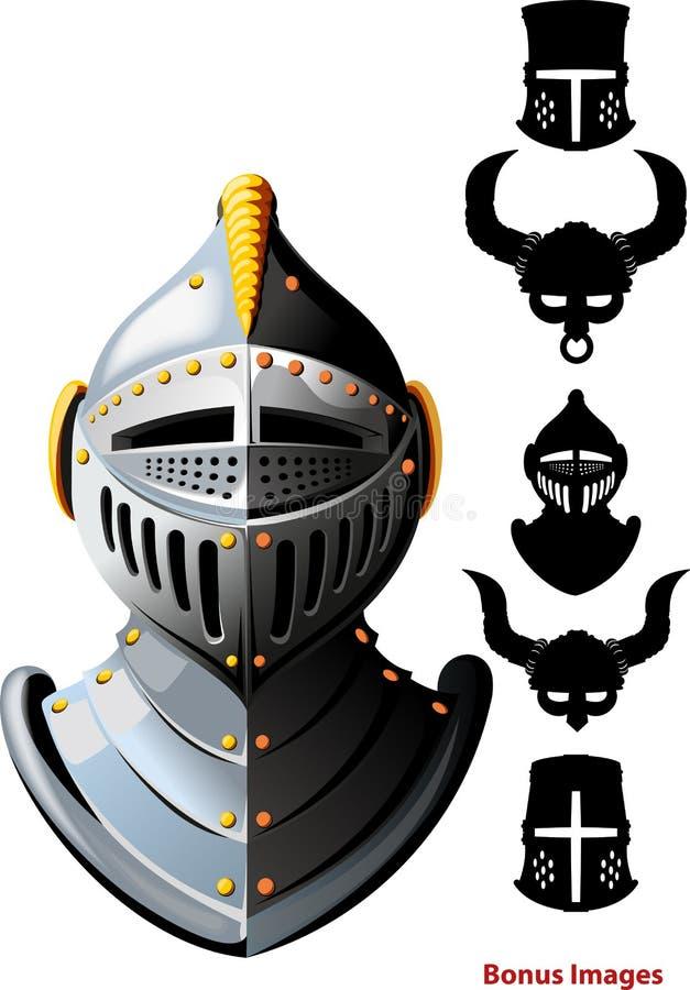Knights helmet stock illustration