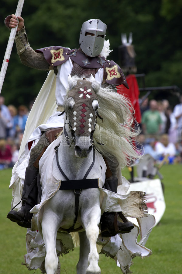 Download Knights Jousting Warwick Castle England Uk Stock Photo - Image: 205304
