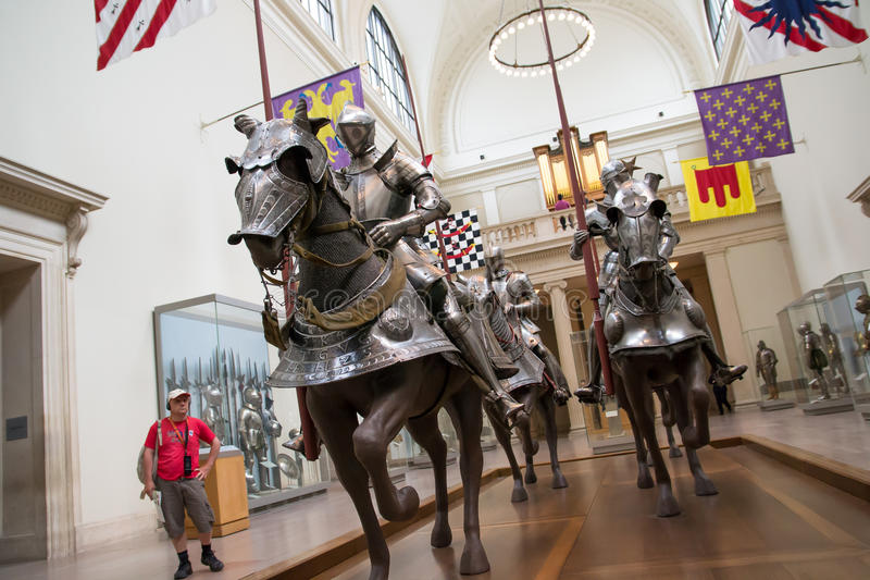Knights At Museum Editorial Stock Photo