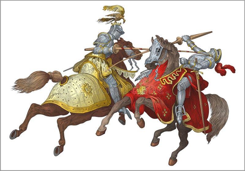 Knights o competiam ilustração stock