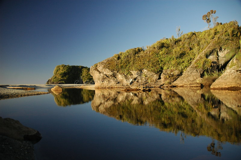 Download Knights' point beach stock image. Image of zealand, rocks - 6996295