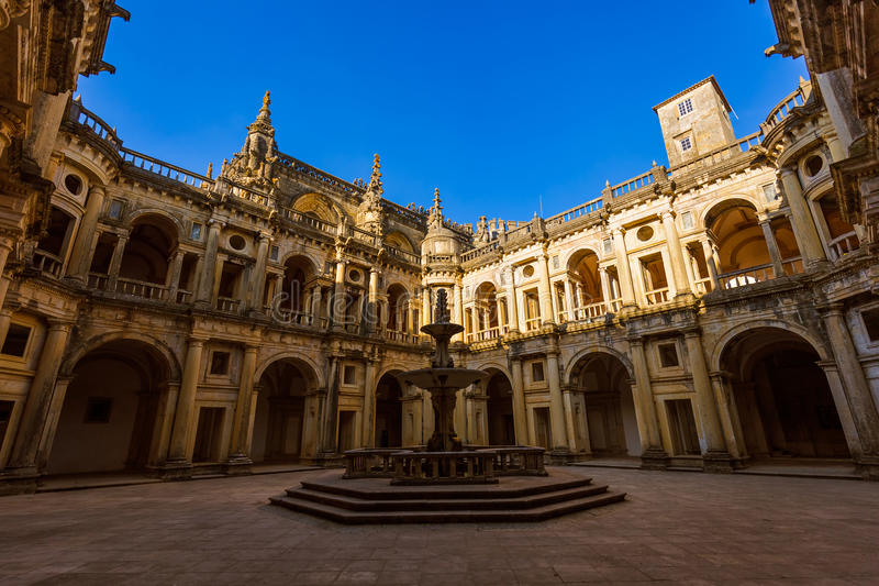 Knights of the Templar (Convents of Christ) castle - Tomar Portugal. Knights of the Templar (Convents of Christ) castle in Tomar Portugal stock photo