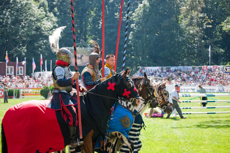 Download Knights tournament editorial stock photo. Image of animal - 11158678