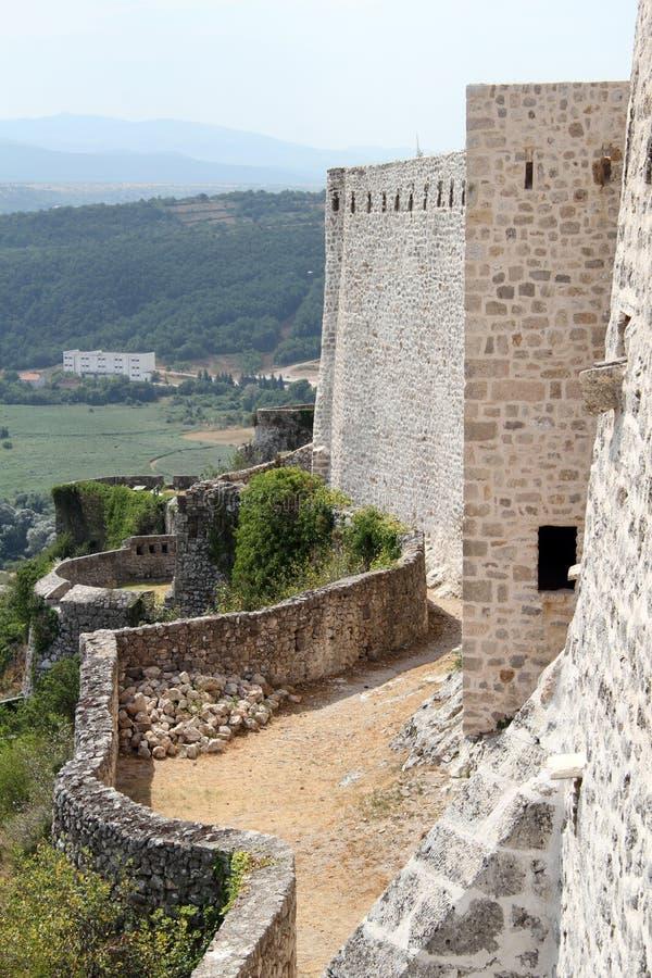 Knin的堡垒 库存图片