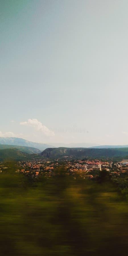 Knin cityscape fotografia stock