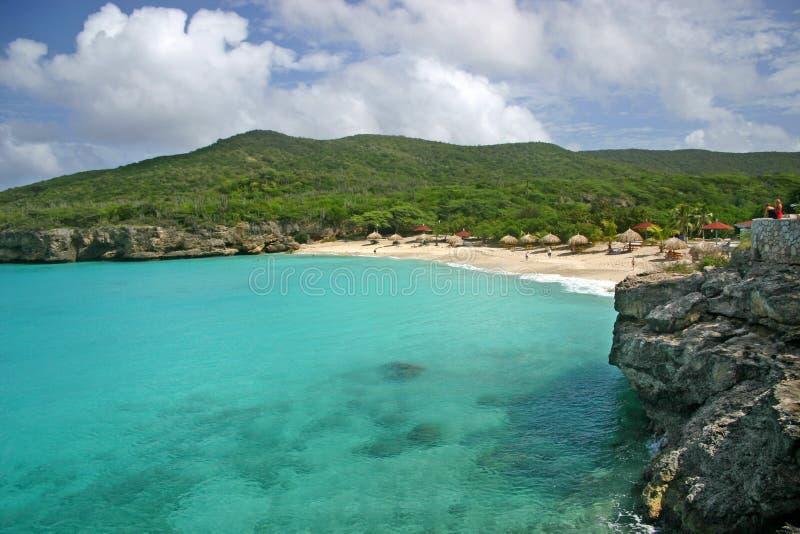 knip curacao пляжа стоковые фотографии rf