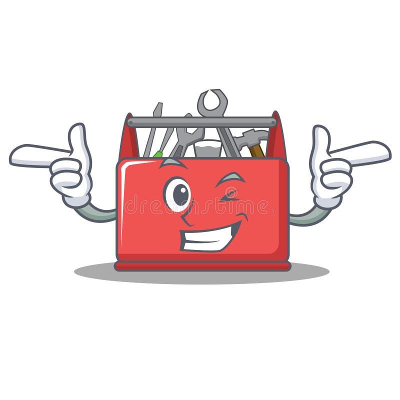 Knipoog het karakterbeeldverhaal van de hulpmiddeldoos vector illustratie
