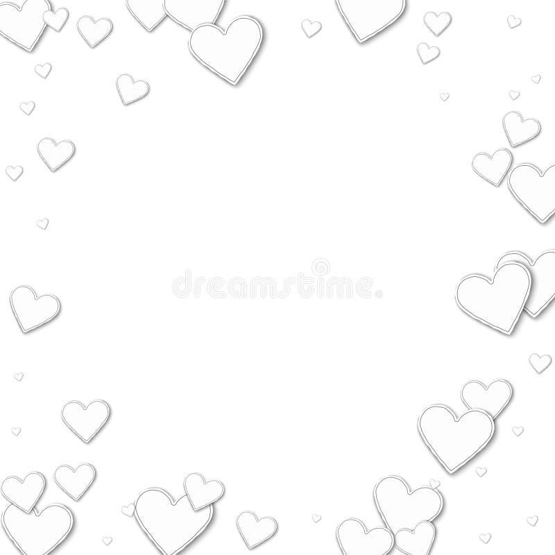 Knipseldocument harten vector illustratie