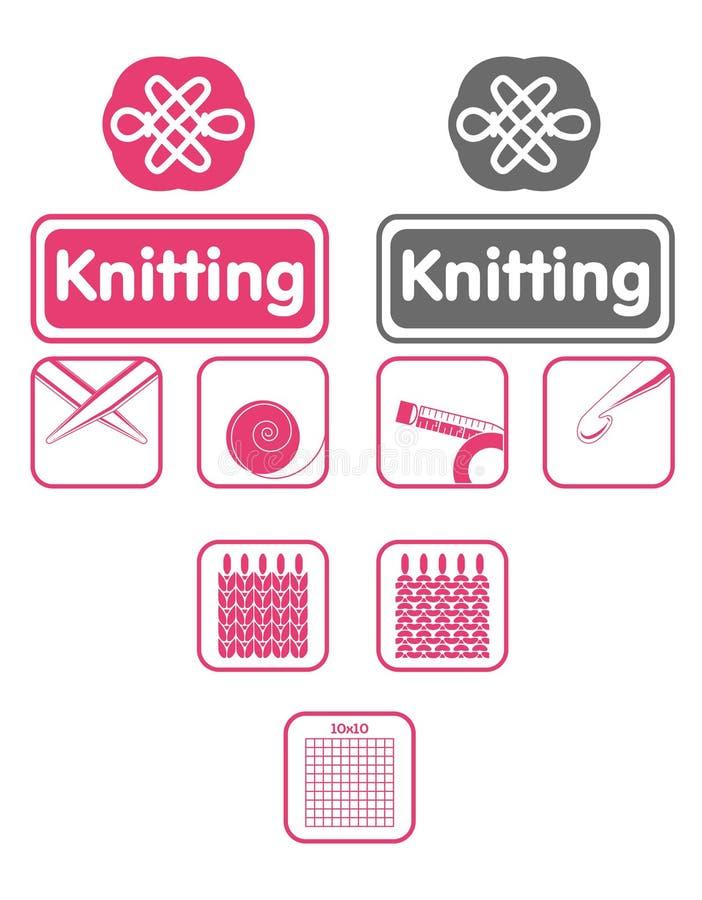 knit икон иллюстрация штока