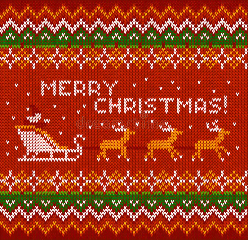Knit рождества в стиле Норвегии иллюстрация вектора