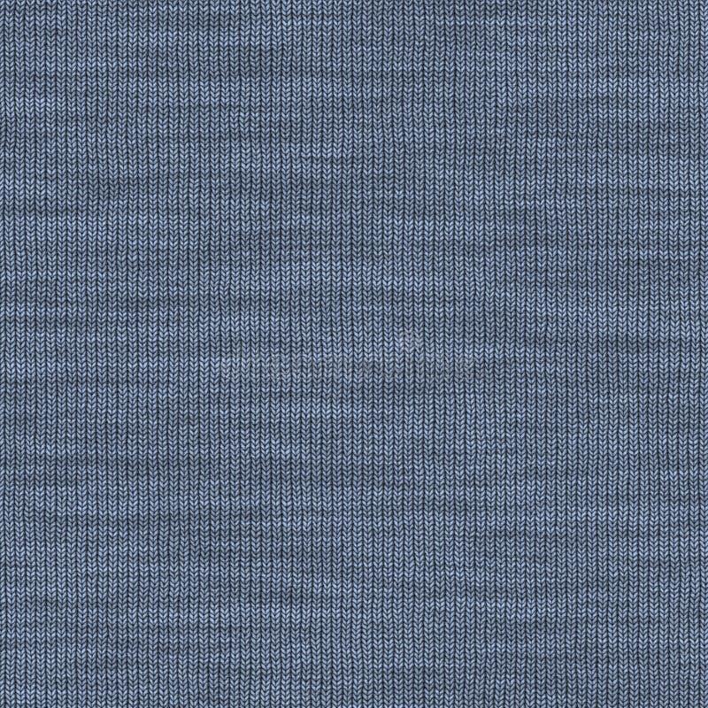 Knit azul ilustración del vector