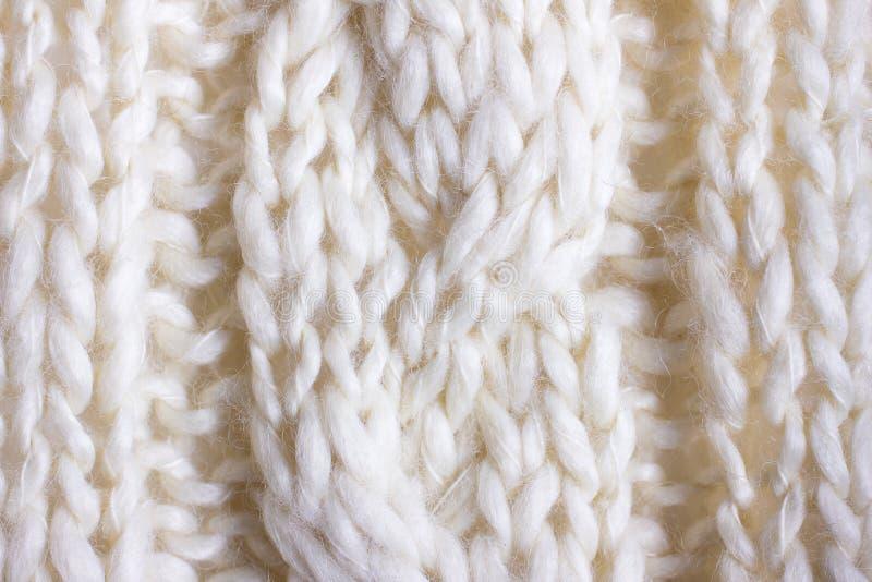 Knit del cable del primer fotos de archivo