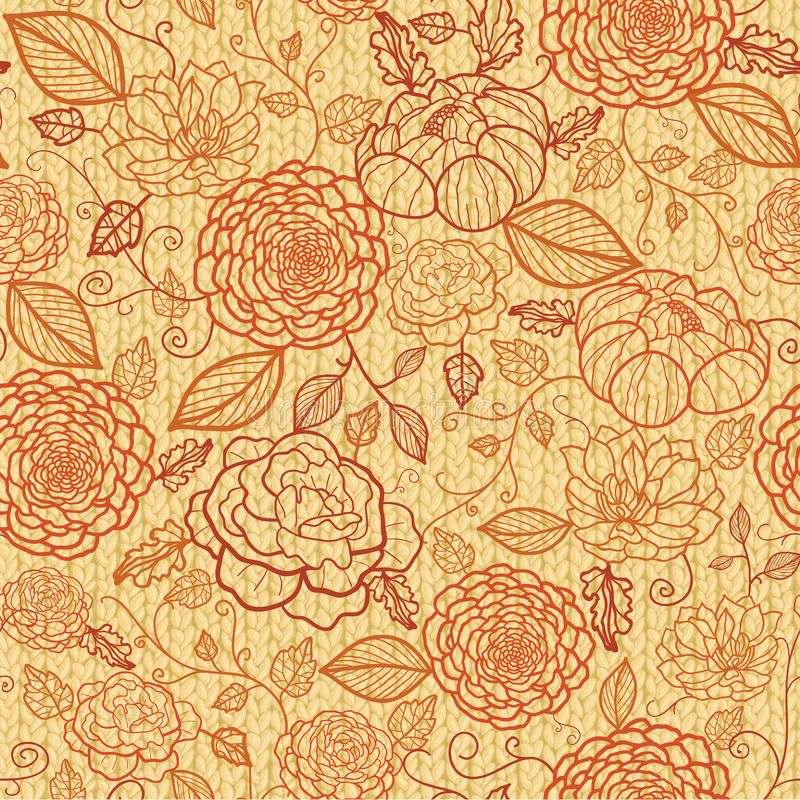 Download Knit Embroidery Flowers Seamless Pattern Stock Image - Image: 30509321