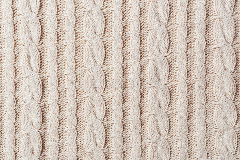 Knit fabric. White knit fabric texture background stock photo