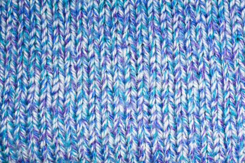 Knit pattern. Front side of blue knit pattern stock images