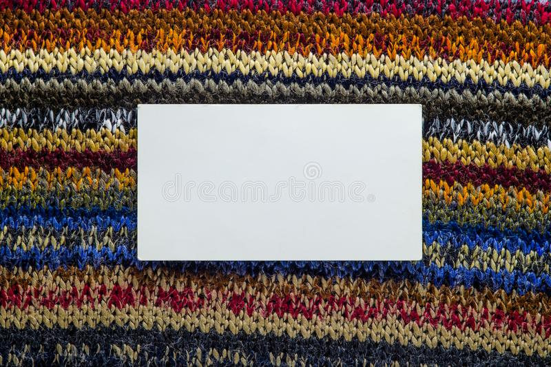 Knit Texture with White Blank Space stock image