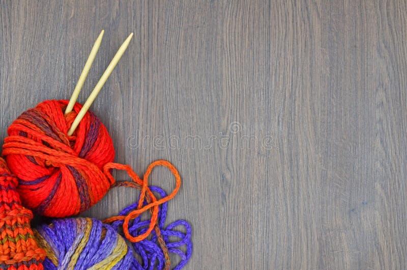 Knit und Wolle stockbilder