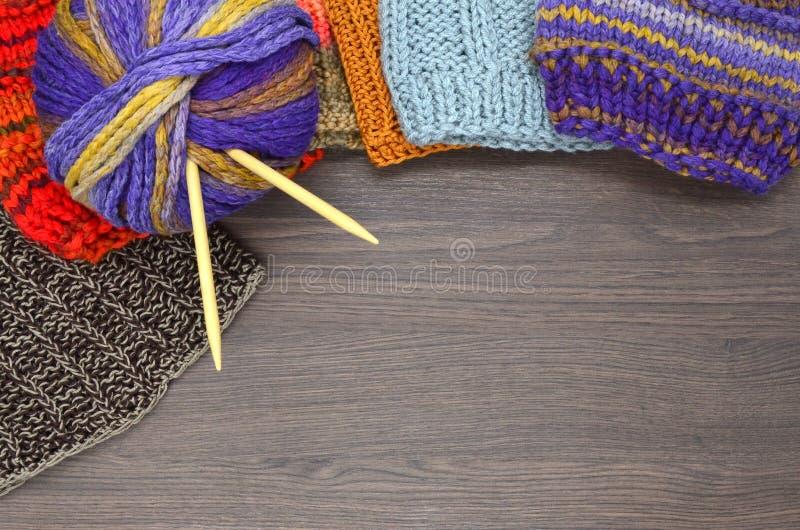 Knit und Wolle stockfotografie