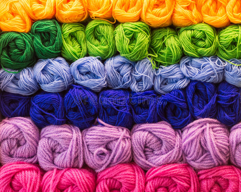 Knit wool. Sewing roll craft royalty free stock photo