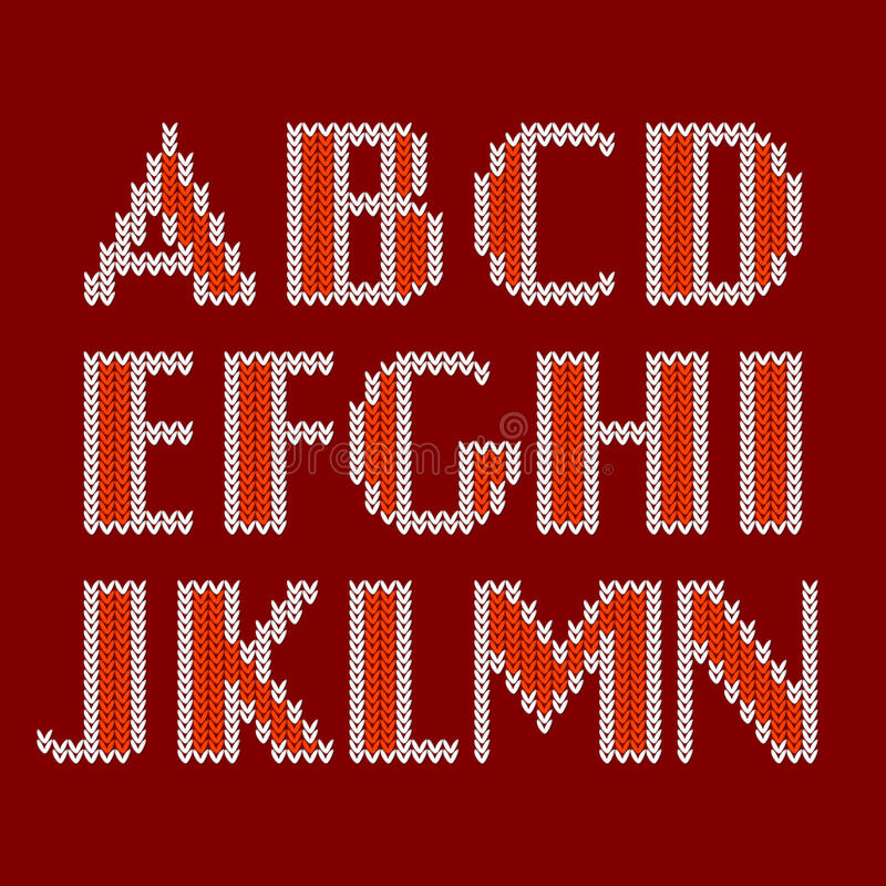 Knitted Alphabet Royalty Free Stock Images