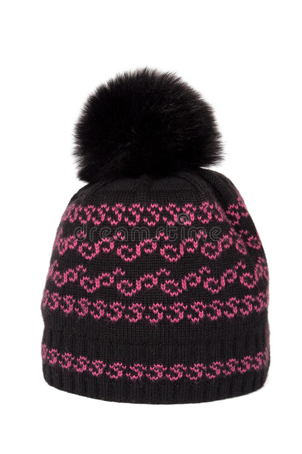 Download Knitted Cap With A Pompon Stock Images - Image: 18818654