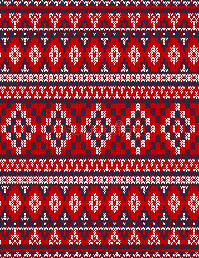Knitted Chrismas rug tribal ornament seamless pattern. Ethnic aztec print. Knitted Chrismas rug tribal ornament seamless pattern. Ethnic aztec towel, yoga mat royalty free stock photos