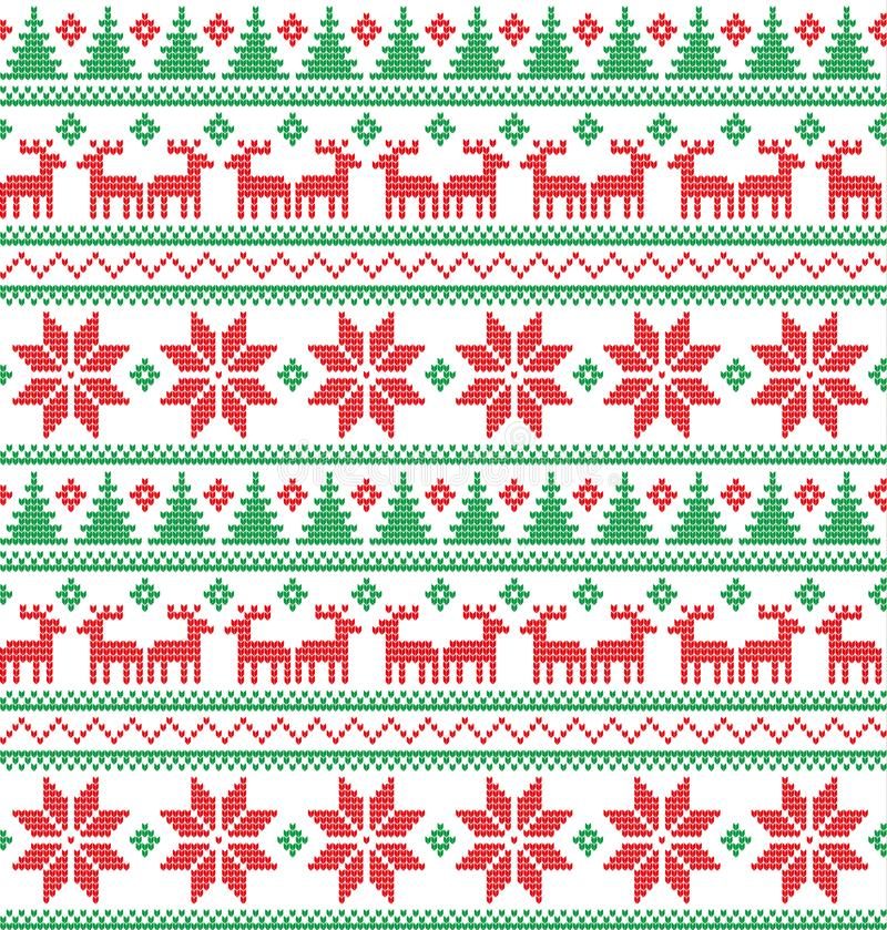 Knitted Christmas and New Year pattern stock photography