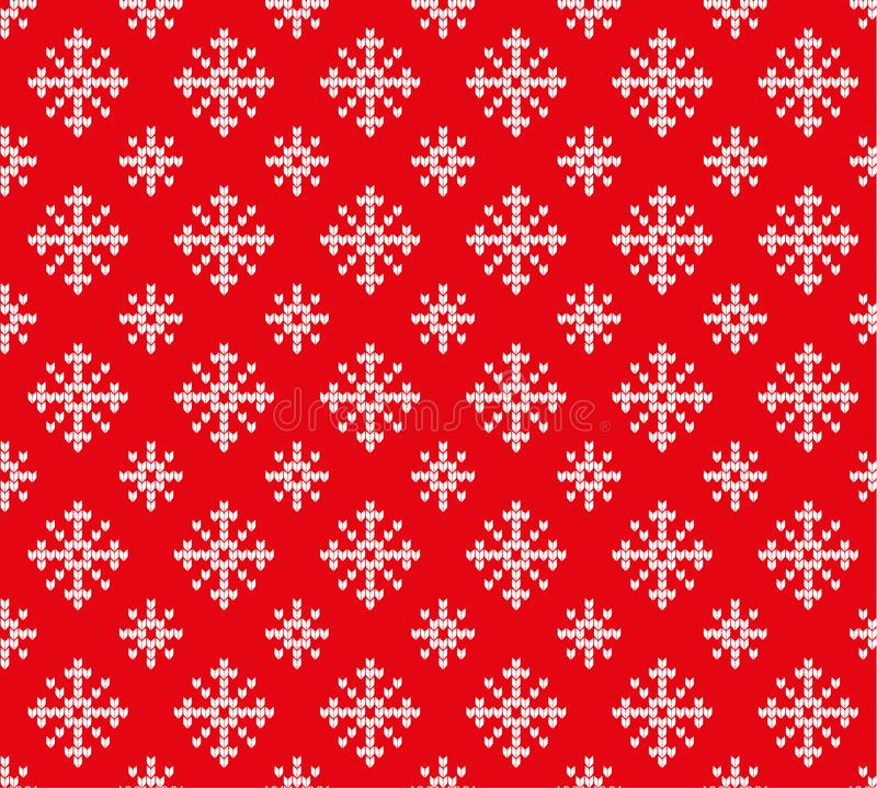 Knitted Christmas and New Year pattern stock photos