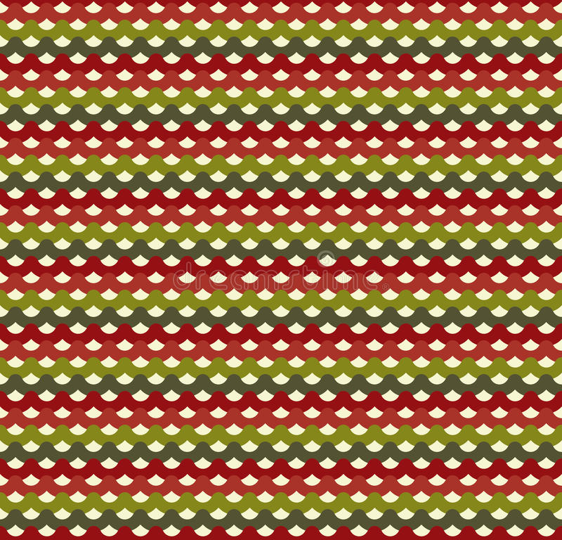 Knitted Christmas seamless pattern in traditional colors royalty free illustration