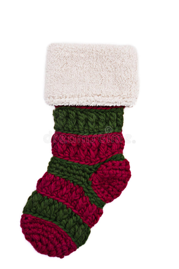 Knitted Christmas Stocking royalty free stock images