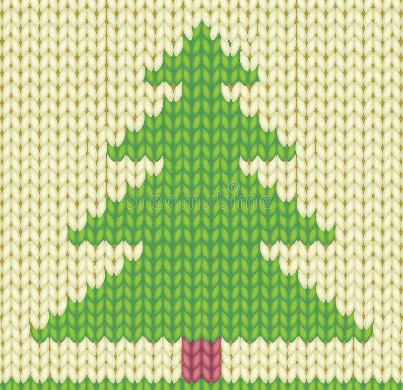 Knitted Christmas tree stock vector. Illustration of craft - 27416656